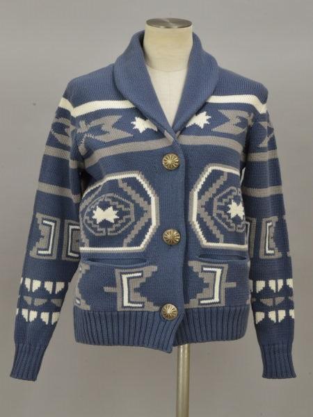 ロンハーマン Ron Herman コンチョ カウチンニットジャケット XSサイズ ブルー レディース F-L5959【中古:良品】【ブランド買取販売トリヴァンドラム】190807