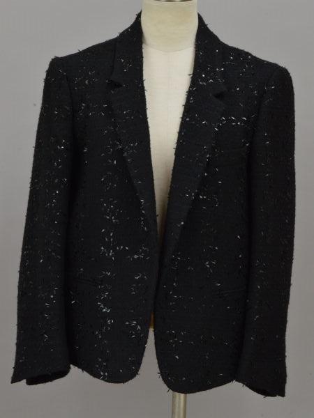クロエ Chloe ツイード テーラードジャケット 34サイズ ブラック レディース F-L6112【中古:美品】【ブランド買取販売トリヴァンドラム】191205