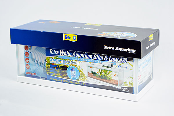 テトラ ホワイトアクアリウム スリム&ロー 420