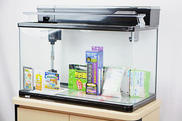 【送料無料】 GEX ラピレスRV60DT LEDセット 60cm曲げガラス水槽・熱帯魚飼育セット 【北海道・沖縄・離島、別途送料】