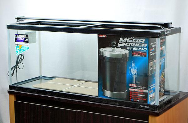 【送料無料】 ニッソー 90x30x37cmガラス水槽+外部+LEDライト 【北海道・沖縄・離島、別途送料】