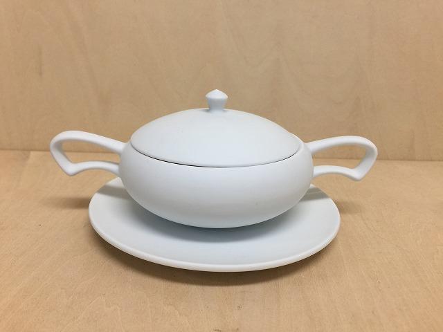 【有田焼 李荘窯】白磁ブラストアラジンカップ&ソーサー【あす楽対応】