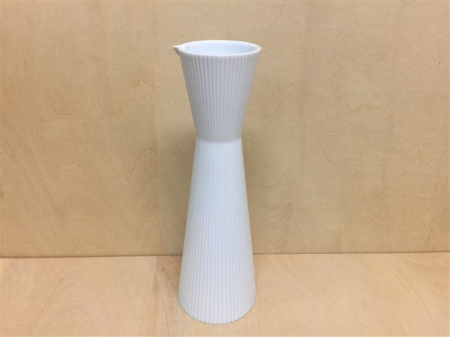 【有田焼 李荘窯】白磁ブラスト鎬徳利250cc(撥水)