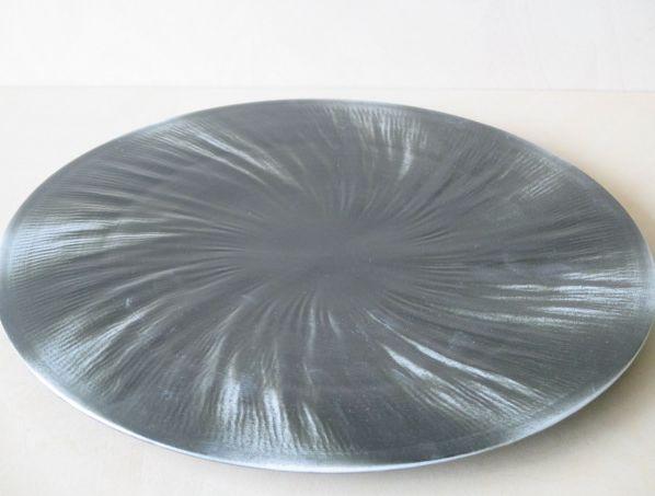 【有田焼 李荘窯】ブラックホール黒29cm捻りプレート【皿】【あす楽対応】