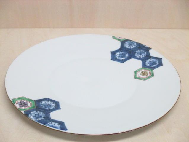 【有田焼 福泉窯】 9寸プレート 亀甲紋【皿・プレート】