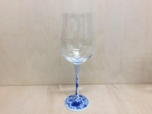 【有田焼 福泉窯】ARITAワイングラス400cc染付華唐草【酒器・ワイン・グラス】【コップ】