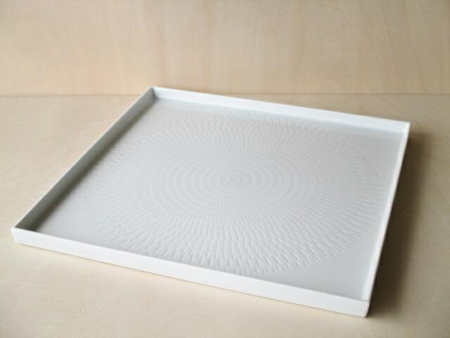 お取り寄せできます お気にいる 在庫数以上ご注文可能 角皿 大皿 皿 プレート 波佐見焼 白色 輪点 280角皿 28cm 一真窯 休み 正方形