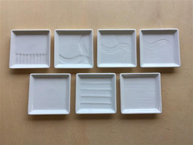 お取り寄せできます 在庫数以上ご注文可能 豆皿 小皿 皿 プレート 人気上昇中 白磁 白色 波波佐見焼 角皿 正方形 6cm 和食器 一真窯 おしゃれ 四角 メール便送料無料 セール 特集 60角皿