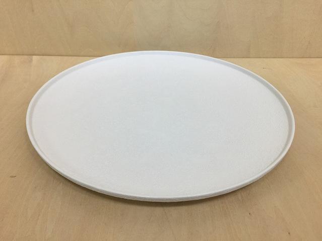 【有田焼 吉右衛門窯】frame26cmプレート(白泡化粧)