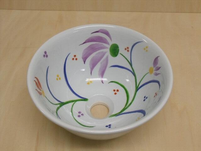 【有田焼 あかね工房】27cm洗面鉢(色絵)