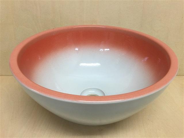 【有田焼】【訳あり】32cm手洗鉢.あけぼの13【手洗い鉢・植木鉢・洗面鉢】