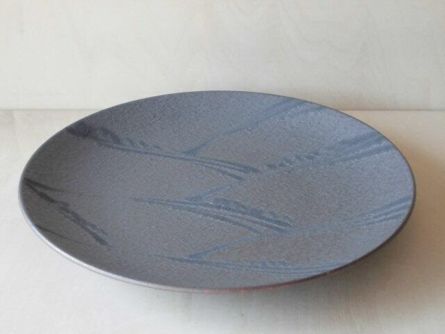 お取り寄せできます 鉄釉シリーズ 有田焼 原重窯 プレート 激安 新色追加 皿 鉄釉波絵24cm丸皿