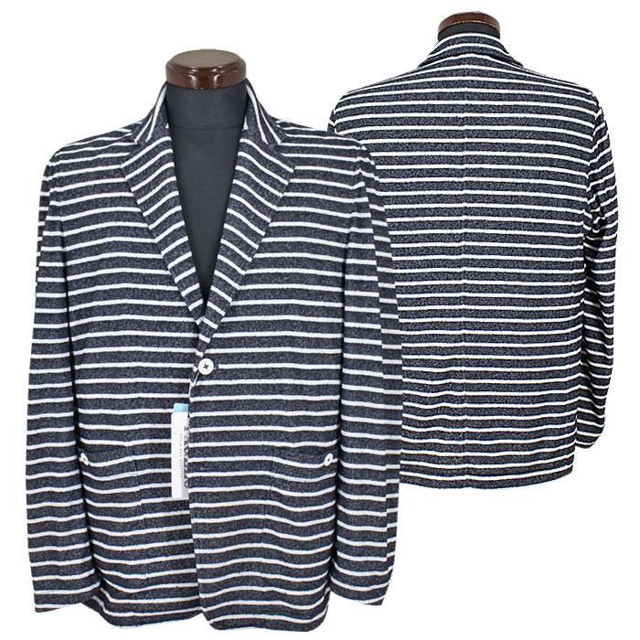 パジェロ■2020春夏■テンセル パイル ショート丈 ジャケット(紺)