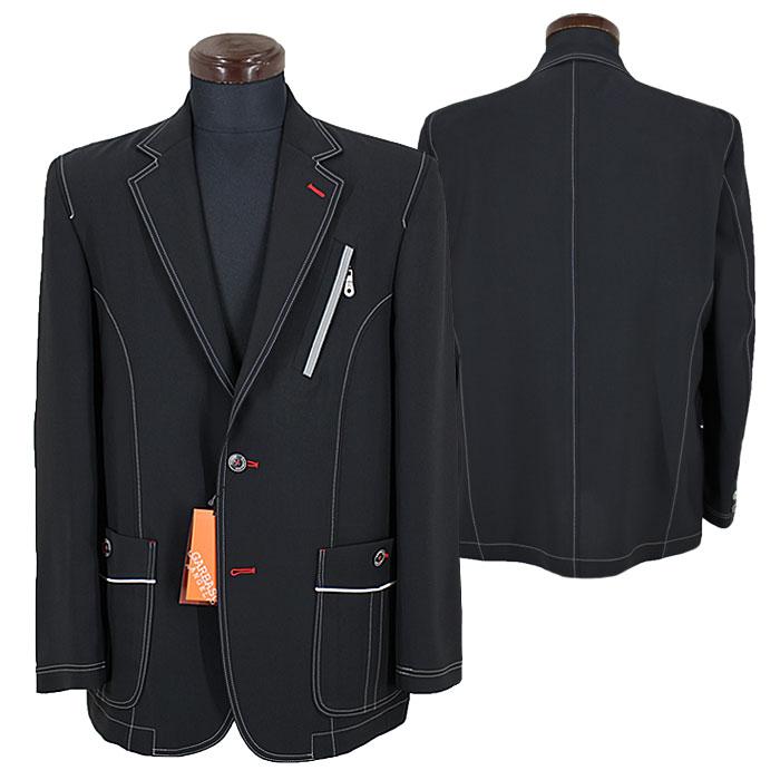 アンジェロ ガルバス■2020春夏■ポリギャバ織サマージャケット(黒)01-4105-03-05