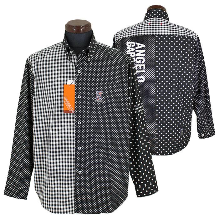アンジェロ ガルバス■2020春夏■ボタンダウンシャツ(黒系)日本製