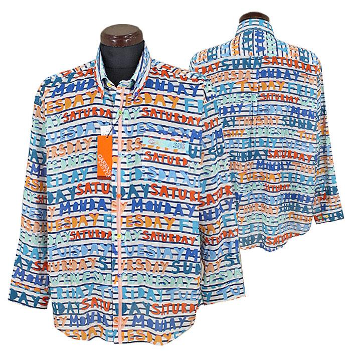 アンジェロ ガルバス■2020春夏■ボタンダウンシャツ(オレンジ系)日本製