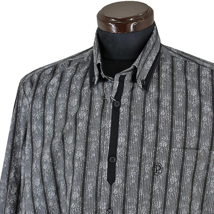 パジェロ■2020秋冬■ボタンダウンシャツ(ダークグレー)日本製