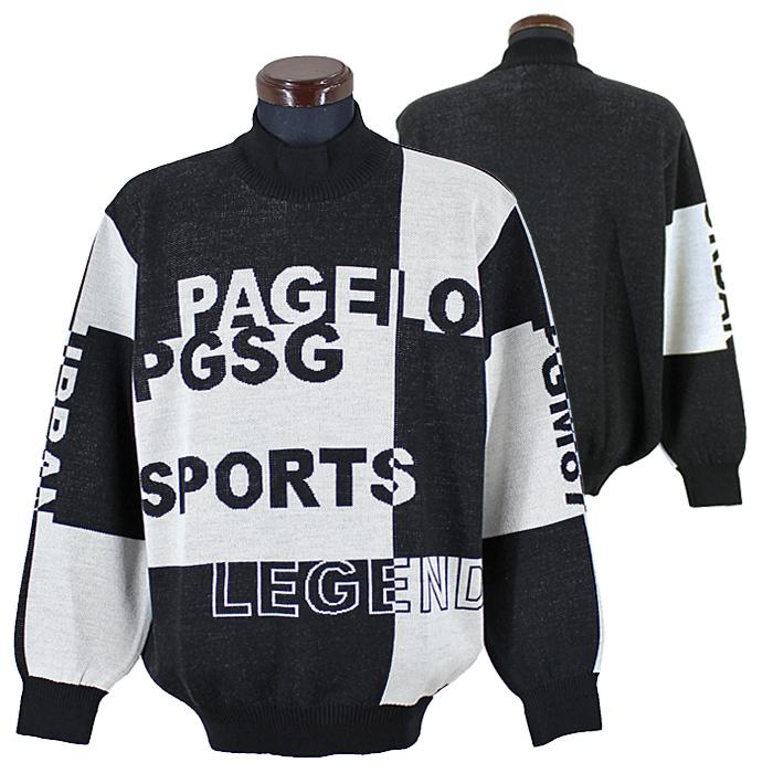パジェロ■2020秋冬■ハイネックセーター(黒)日本製