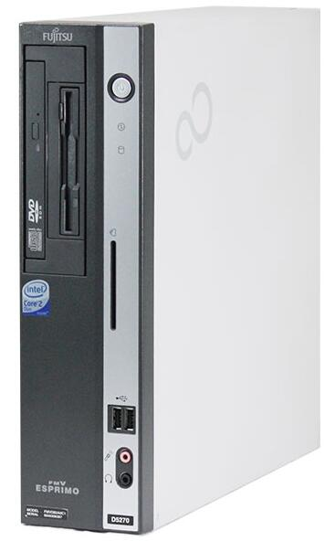 Windows XP Pro HDDリカバリー領域有/富士通 ESPRIMO D5280 Core2 Duo 2.80GHz/4GB/160GB/DVD 即日発送 中古パソコン デスクトップ