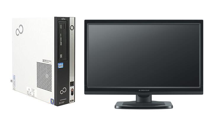 Windows7 Pro 64BIT/富士通 ESPRIMO D581/Core i5-2400 3.10GHz/8GB/新品SSD 360GB/DVD/Office付/22型液晶付/新品1GBグラボ HDMI 中古パソコン デスクトップ