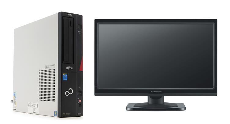 Windows10 Pro 64BIT搭載/富士通 ESPRIMO D583/Core i5-4570 3.20GHz/16GB/新品SSD 120GB/DVD/無線LAN/Office付/24インチモニター付 中古パソコン デスクトップ