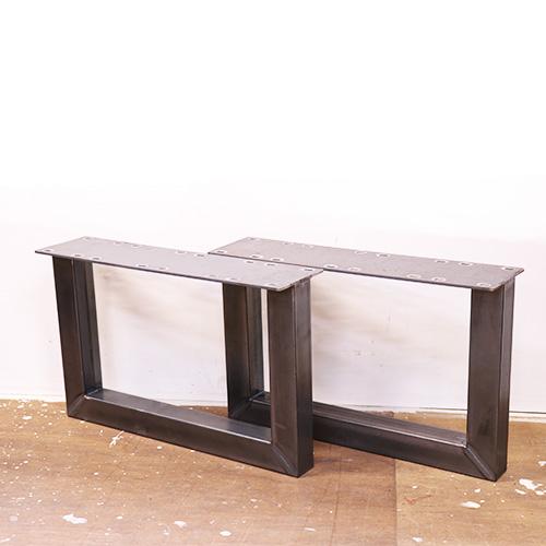 2-6クラフトレッグ#50 ローテーブル用 鉄脚 H330 DIY アイアン アンティーク風インダストリアル 黒or無塗装