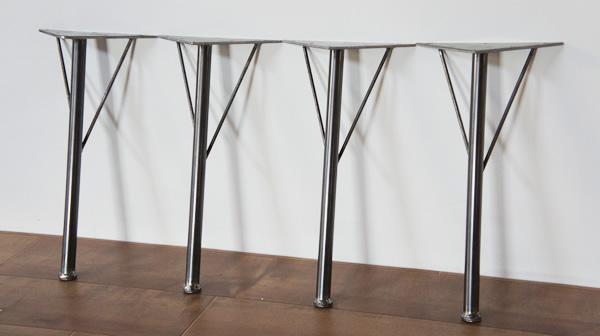 4本セットロータイプ角度付鉄脚(てつあし) テーブル 脚パーツローテーブル センターテーブル用 フロイドレッグ
