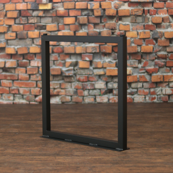 ♯40四角タイプ テーブル脚パーツ 鉄脚 左右セット DIY アイアン アンティーク風インダストリアル ウレタン塗装、艶消しブラック