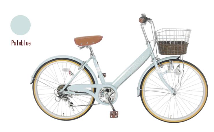 【お届け先の条件クリアで全国!】【完成品でお届け】Lupinus(ルピナス)LP-246VD-K24インチシティサイクル ダイナモライト・シマノ製6段変速 自転車