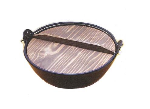 【在庫限り★特別価格】 ジャンボ田舎鍋(鉄製) 36cm ※杓子なし/化粧箱なし・長期在庫品の為、多少キズ汚れ有り