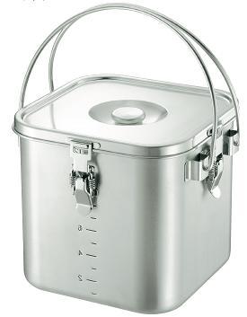 KO 19-0 IH対応 スタッキング 角型給食缶 30cm