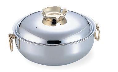 (株)和田助製作所SW 電磁用 しゃぶしゃぶ鍋 真鍮ハンドルツマミ 23cm  3312-0230 JAN:4580173257105