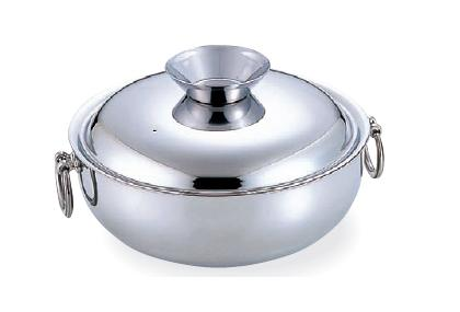 SW 電磁用 しゃぶしゃぶ鍋 ステンレス柄 30cm  3311-0300