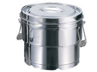 AG 18-8 目盛付二重食缶 14L クリップ付