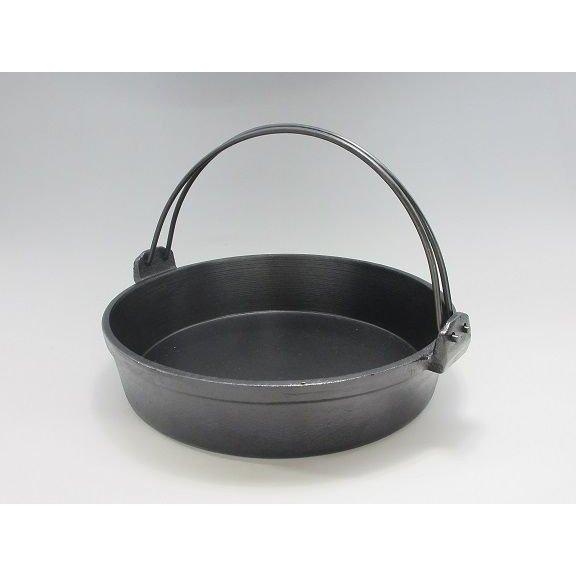 メイルオーダー 有限会社三和精機製作所SANWA 鉄 すきやき鍋ツル付 黒ぬり 20cmJAN:4560378691942 上等