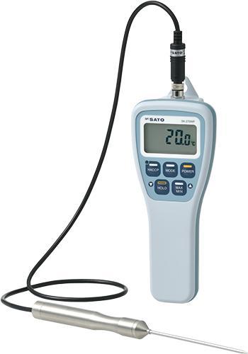 SATO 防水型 デジタル温度計 SK-270WP No.8078-00 標準センサS270WP-01付