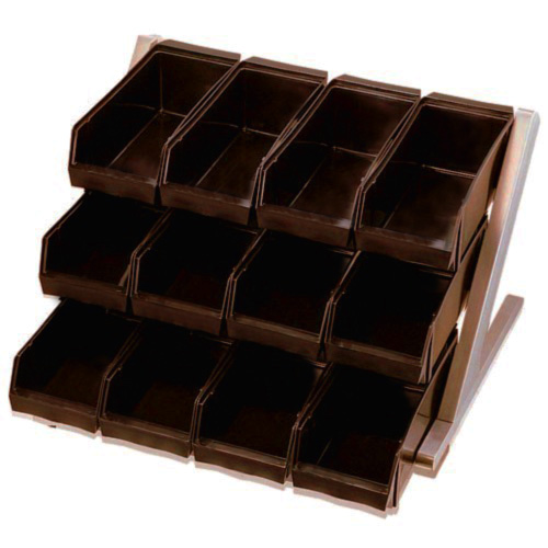 在庫限り 特別価格 18-8ステンレス オーガナイザー3段4列 ブラウン限定20個 抗菌ボックス12個付 新色追加 少々汚れ等あり 送料無料 新品 ※在庫品