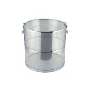 【受注生産品】UK 18-8 パンチング スープ取りざる 丸型  42cm用