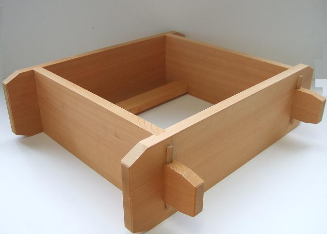 木製 角セイロ 関東型(サワラ材) 42cm
