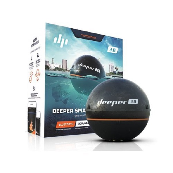 魚釣りに便利!iPhone/iPadで使える ワイヤレス ポータブル魚群探知機 Deeper Fishfinder Deeper Smart Fishfinder 3.0 Bluetooth 並行輸入品