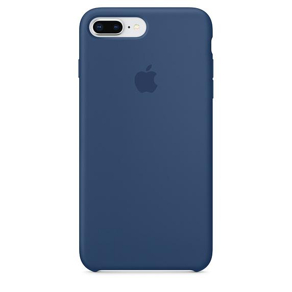 滑らかなボディにピッタリフィット ネコポス APPLE アップル 純正 iPhone 8 出色 7 ブルーコバルト Plus用 Plus NEW  シリコンケース MQH02FE A