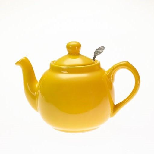 ストレーナー付のティーポット 英国LONDON POTTERY 2杯用 上等 ティーポット イエロー 2CUP用 黄 1~2人用 誕生日プレゼント 600ml