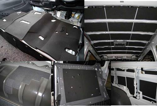 【UIvehicle/ユーアイビークル】ハイエース 200系 フェリソニ防音材 スタンダードタイプ フルセットワイドボディ 4ドア  2~4型(ワゴンGL) 1台分入り防音・断熱処理の為に必要なパーツを1台分まとめたセット!!日本製!!