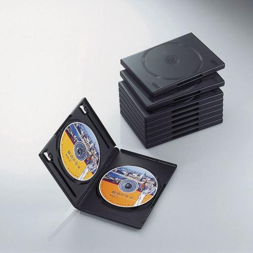 エレコム ELECOM CCD-DVD06BK 送料無料 エレコム トールケース DVD BD 対応 標準サイズ 2枚収納 10個セット ブラック CCD-DVD06BK DVDトールケース 【 あす楽 】 ELECOM