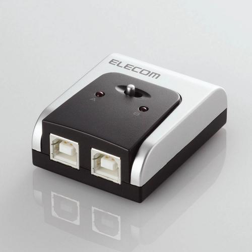 エレコム USB切替器 手動 2.0対応 2台 U2SW-T2 USB2.0対応切替器 【 あす楽 】 【  】 ELECOM