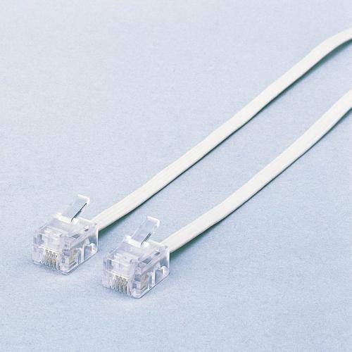 エレコム ELECOM MJ-5WH 送料無料 モジュラーケーブル 5m ホワイト セール 白 送料無料お手入れ要らず スリム スリムモジュラケーブル M