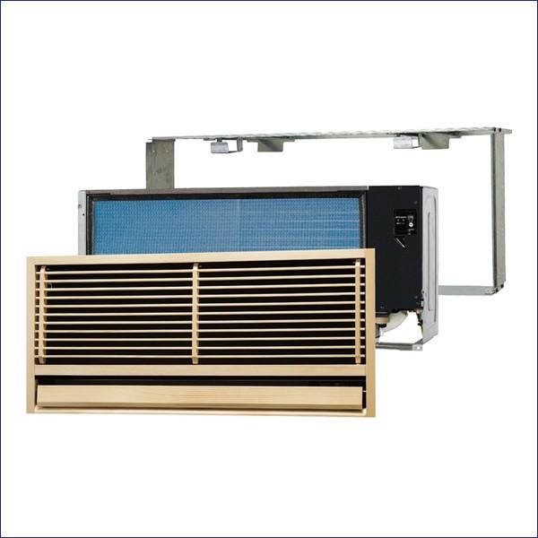 MTZ-2517AS 三菱電機 ハウジングエアコン 室内機・室外機・全面グリル・据付枠セット 壁埋込形 旧型番:MTZ-255AS