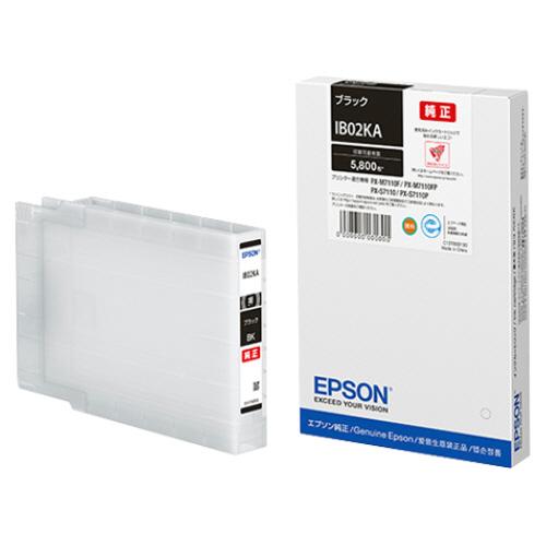 EPSON 信用 IB02KA ストア インクカートリッジ ブラック エプソン 1個