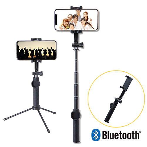 与え 買収 エレコム ELECOM P-SSBTRBK 送料無料 Bluetooth自撮り棒 回転ホルダー型 ブラック 45cm 三脚付