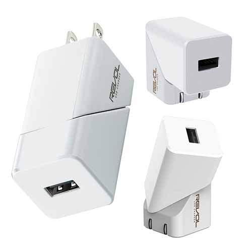 エレコム ELECOM スマートフォン・タブレット用AC充電器 2.4A出力 USB-Aメス1ポート おまかせ充電搭載 回転式機能搭載 ホワイト MPA-ACU06WH